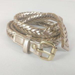 H&M Skinny Gold Waist Belt